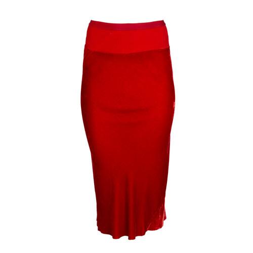 Cardinal Red Midi Skirt