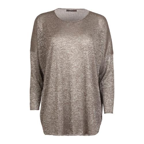 Oversized Metallic Sweater