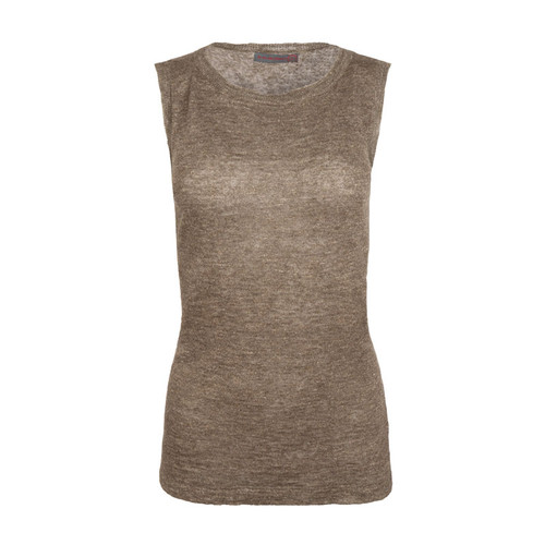 Linen Sleeveless Knit Sweater