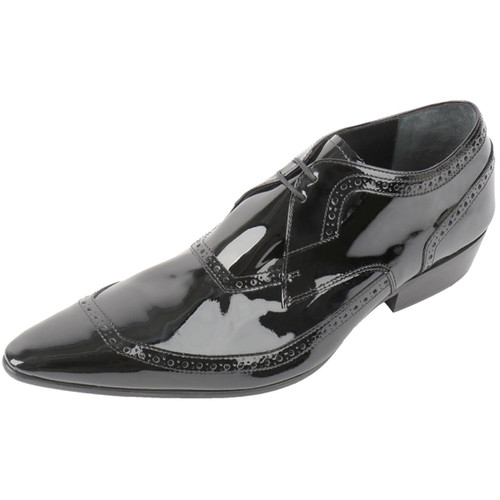 Black Patent Leather Pointed Brogue