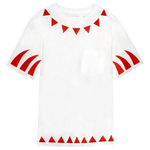 White & Red Claw Tee Shirt