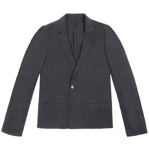 Black Linen Tailored Jacket