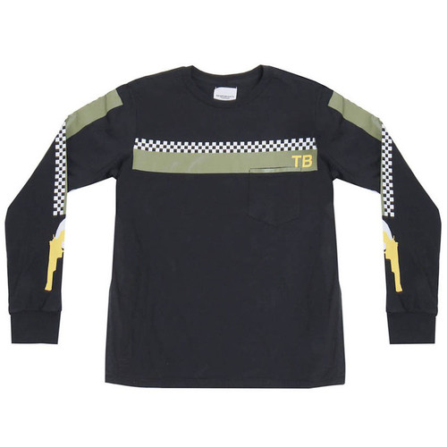 Black 'Racer' Long Sleeve Tee