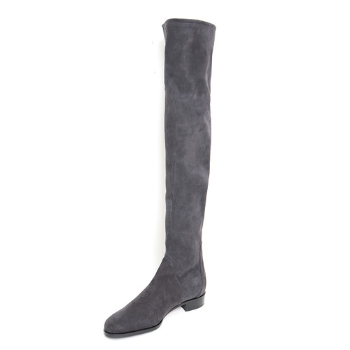 Grey Suede Tall Boot