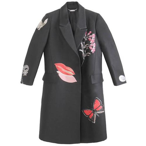Black 'Obsession' Full Length Coat
