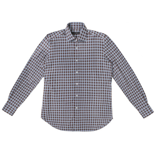 Sky Blue & Dune Checkered Flannel Shirt