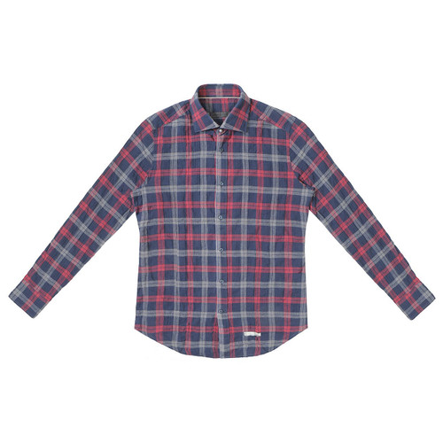 Red & Navy Plaid Shirt