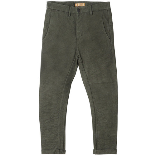 Green Silhouette Canvas Pants