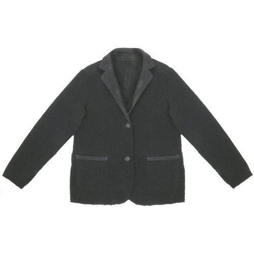 Black Reversible Shearling Jacket