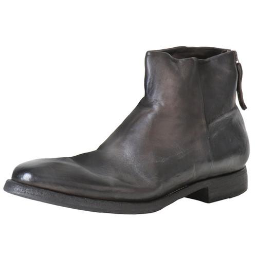 Dark Olive Black Zip Boot