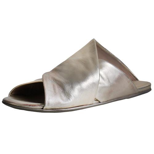 Gold Flat Criss Cross Sandal