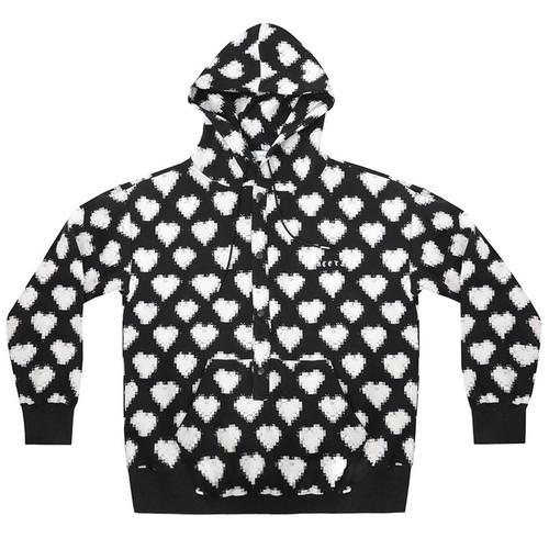 Black & White Digital Heart Sweatshirt