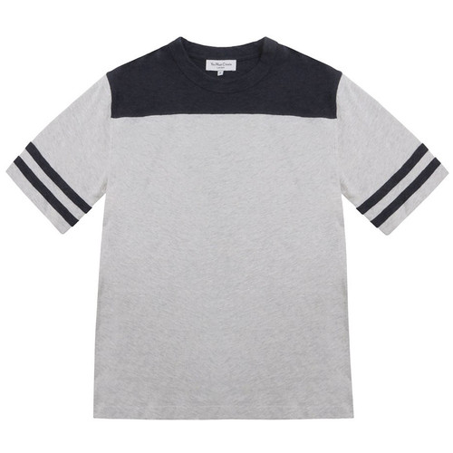 Grey and Blue Color Block Zephyr Tee