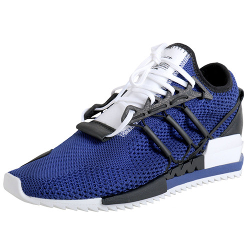 Blue Lace-Up Mesh Sneaker