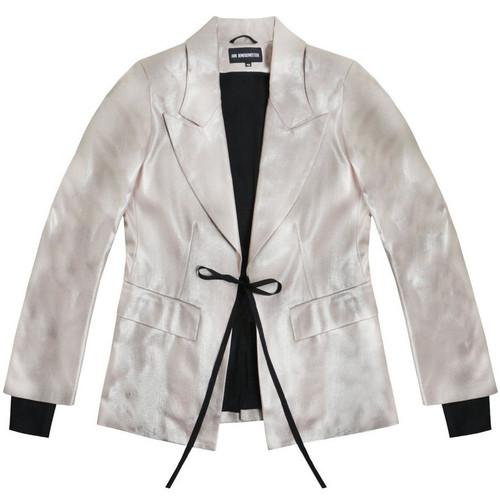 Old Rose Lurex Layered Jacket