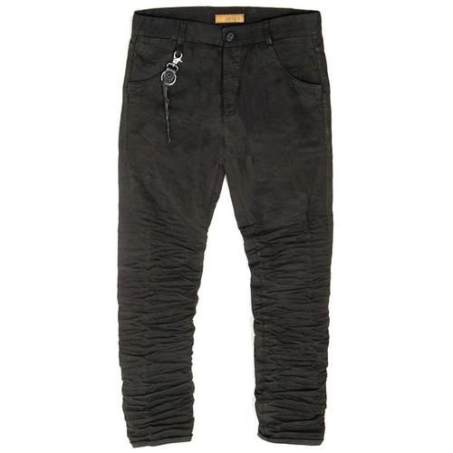 Black Corded Cotton Trouser