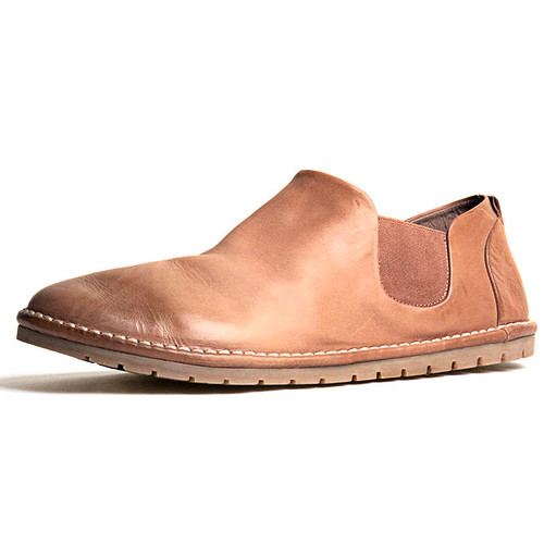 Hazelnut Leather Gomme Slip On Shoe