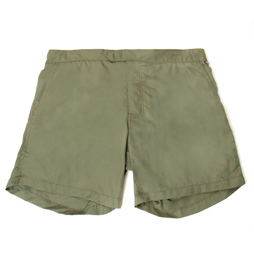Army Green Swim Trunks