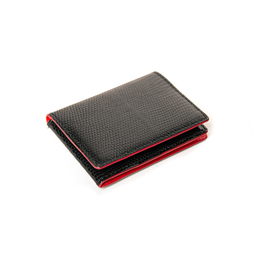 Red Compact Folding Card Wallet