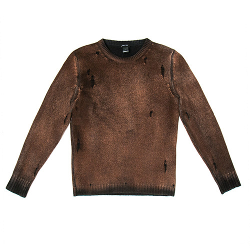 Distressed Dropped Stitch Crewneck