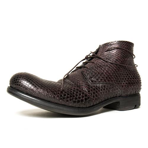 Bordeaux Python Ankle Boot