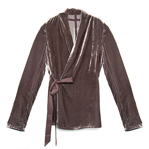 Wrap Long-Sleeve Top in Raisin