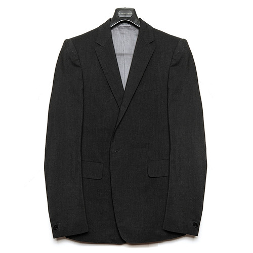 Opaque Black Tailored Jacket
