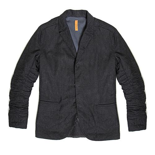Grey Wool Striped Jacket