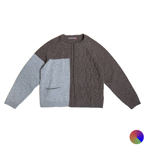 Raglan Cardigan with Panel