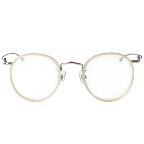 White Rim Silver Frame Glasses