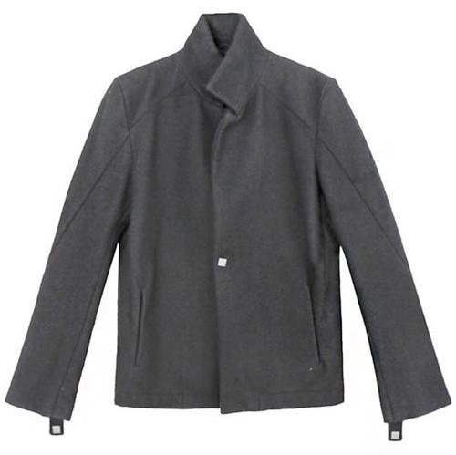 Black Notch Collar Wool Blazer