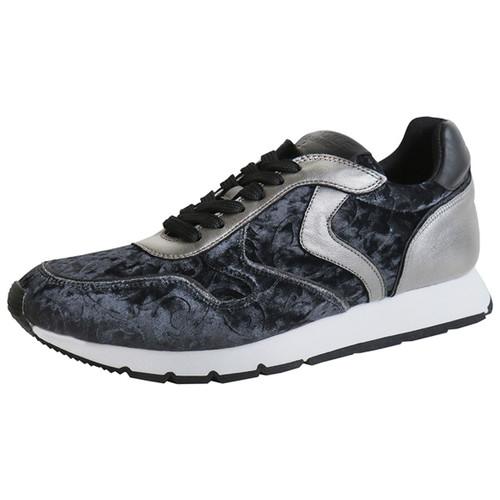 Black & Silver Velvet Brocade Sneaker