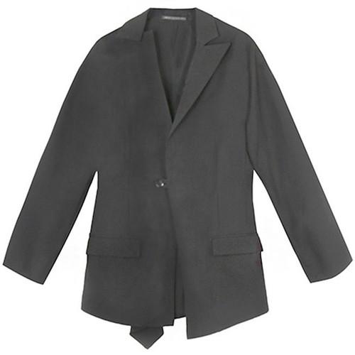 Black Gabardine Dolman Sleeve Jacket