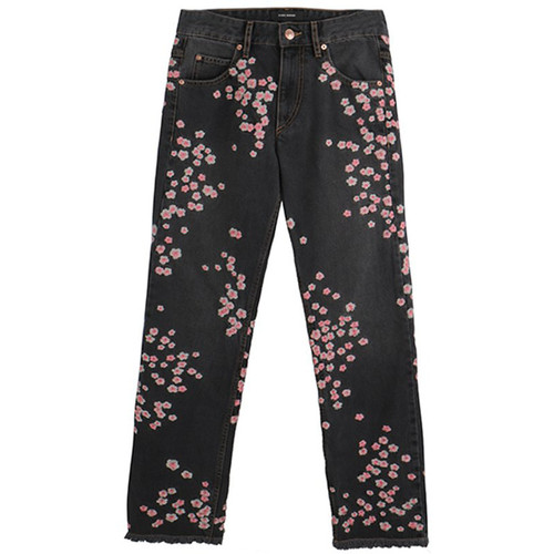 Cherry Blossom Embroidered Jeans