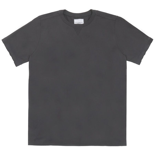 Black Crewneck Short Sleeve Tee