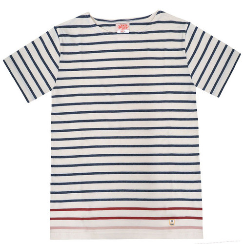 Navy & White Short Sleeve Stripe Tee