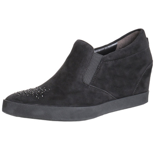 Black Slip On With Toe Sparkle