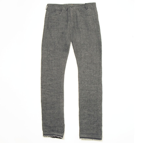 Warm Grey Linen Trouser