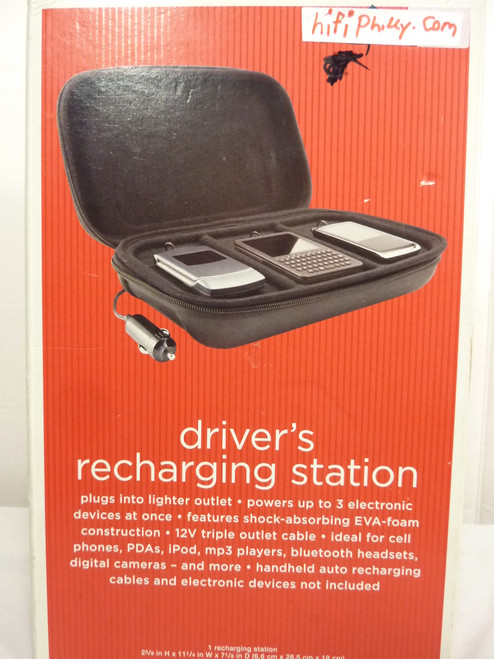 Portable 3 Device Recharging Station w/ Vehicle 12V  Power Adapter