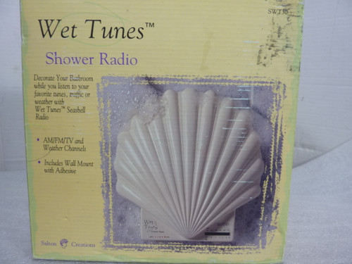 Wet Tunes Shower Radio Wall mountable AM-FM Weather Band