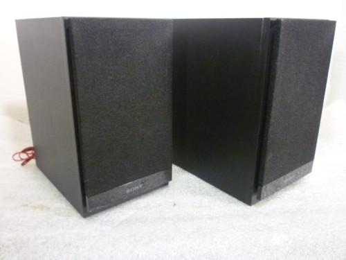 Sony (2) Bookshelf Speakers SS-CBX20 Base Reflex Black Wired