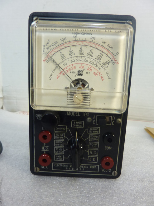 Electronic Measurement Corp EMC Multimeter Model 102 (1949)