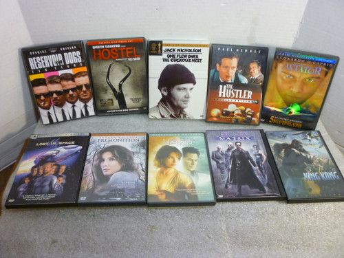 10 DVD Movie Collection The Hustler, Cuckoo's Nest