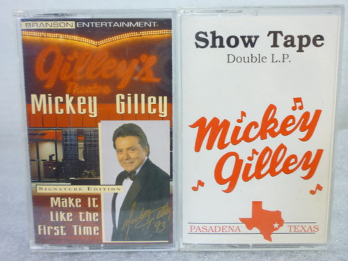 """Mickey Gilley """"Show Tapes"""" (2) Cassette Tapes"""