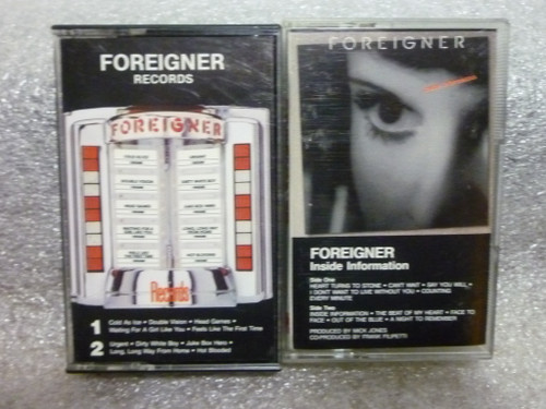 """Foreigner """"Greatest Hits - Inside Information"""" 2 Cassette Tapes"""