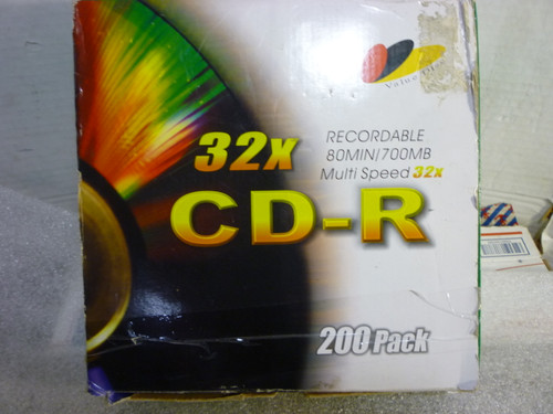200 Recordable CD-R Multi-speed 32X Blank Disc New Sealed