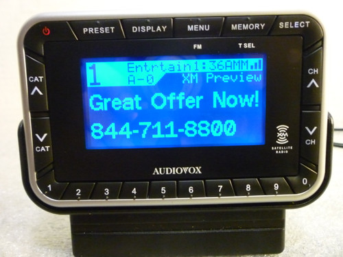 Sirius XM XR9 Satellite Radio Receiver #144-2450 w/ Dock