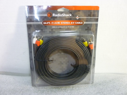 Radio Shack New 24-Ft Stereo Audio / Video Cable New