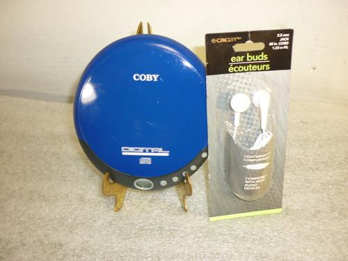 Coby Discman CX-CD109 w/ New Earbuds