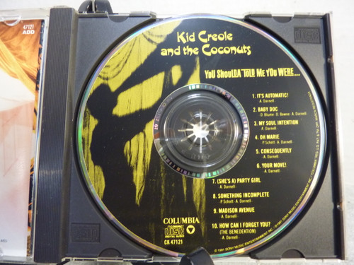"""Kid Creole & The Coconuts """"You Should Haver Told Me You Were"""" Music CD"""